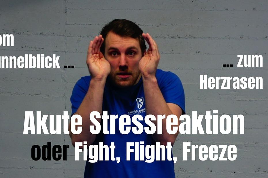 Die akute Stressreaktion muss in das Selbstverteidigungstraining integriert werden.